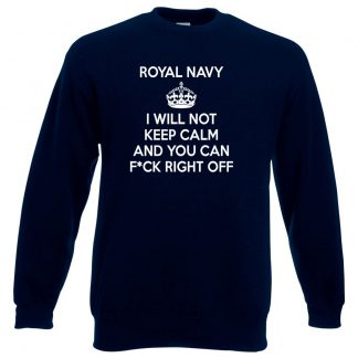 NAVY KEEP CALM Sweatshirt - Navy, 3XL