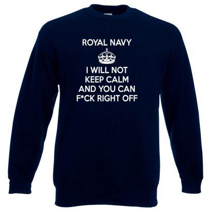 NAVY KEEP CALM Sweatshirt - Navy, 3XL