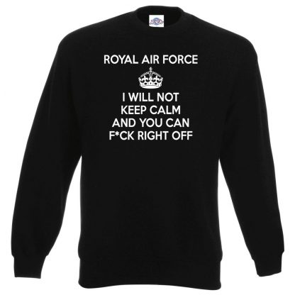 RAF KEEP CALM Sweatshirt - Black, 3XL