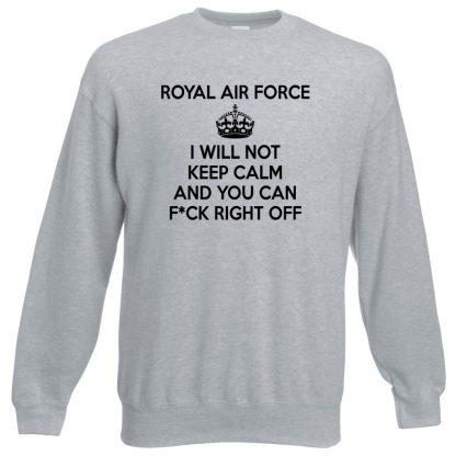 RAF KEEP CALM Sweatshirt - Grey, 3XL