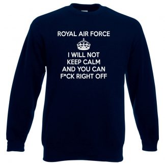 RAF KEEP CALM Sweatshirt - Navy, 3XL