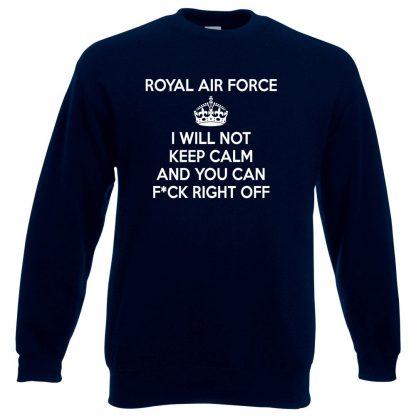 RAF KEEP CALM Sweatshirt - Navy, 3XL