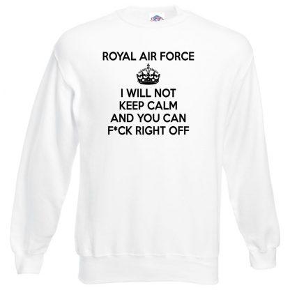 RAF KEEP CALM Sweatshirt - White, 3XL