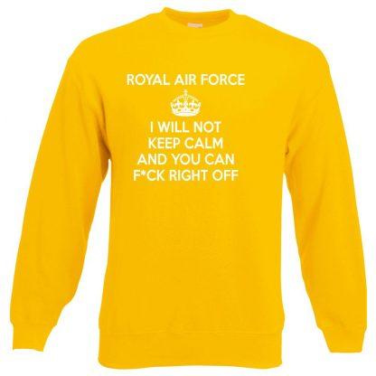 RAF KEEP CALM Sweatshirt - Yellow, 2XL
